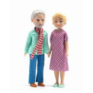 2 Figuren Grosseltern Puppenhaus