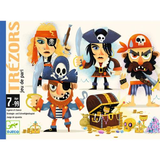 Box Kartenspiel Trezors 2 Piratinnen 2 Piraten
