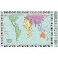 Weltkarte reale Groessen der Kontinente