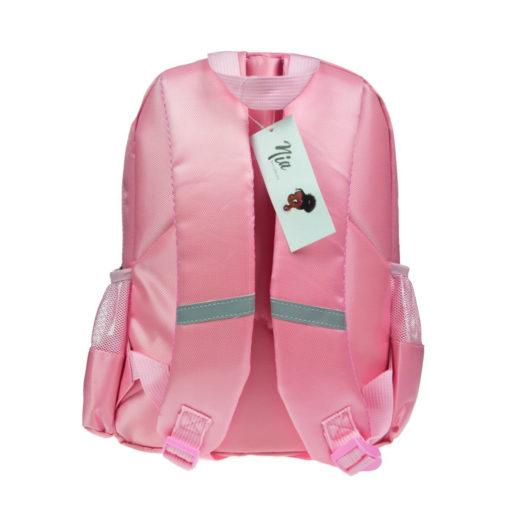 rosa Rucksack Rückseite Träger mit Reflektoren