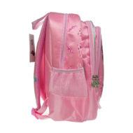 rosa Rucksack Seitenansicht seitliche Flaschenaufbewahrung