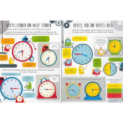 Beispielseite Uhrzeit lesen und verstehen