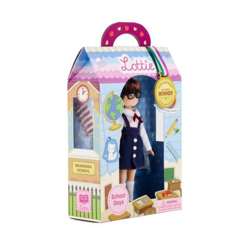Puppe Lottie School Days seitlich in Verpackung