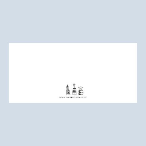 Gutschein Rückseite, 3 Männchen und Webadresse