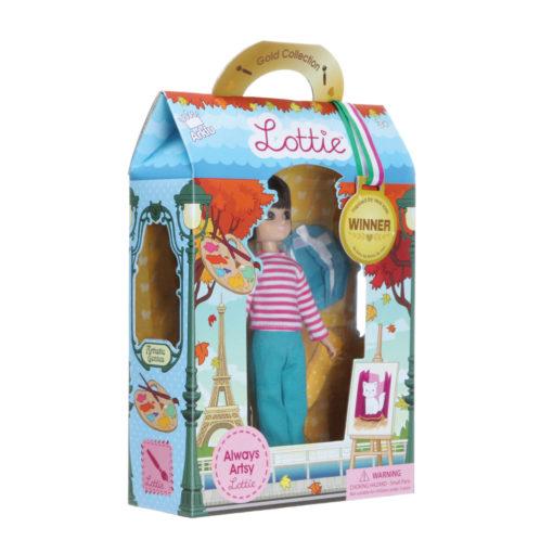 Puppe Lottie Always Artsy im Karton schräge Ansicht