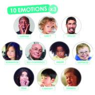 Übersicht der verschiedenen Gefühle- runde Karten.