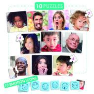 Puzzle 10 Emotionen: Übersicht der Puzzle plus der dazugehörigen Emoticonkarten
