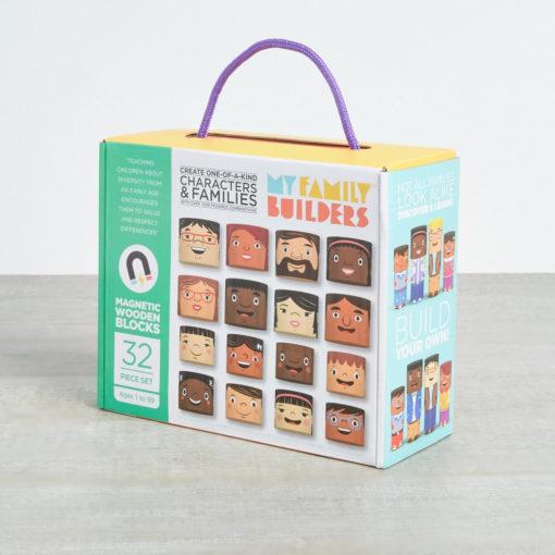Karton des 32teilegen My Families Builders Sets. Characters & Families.
