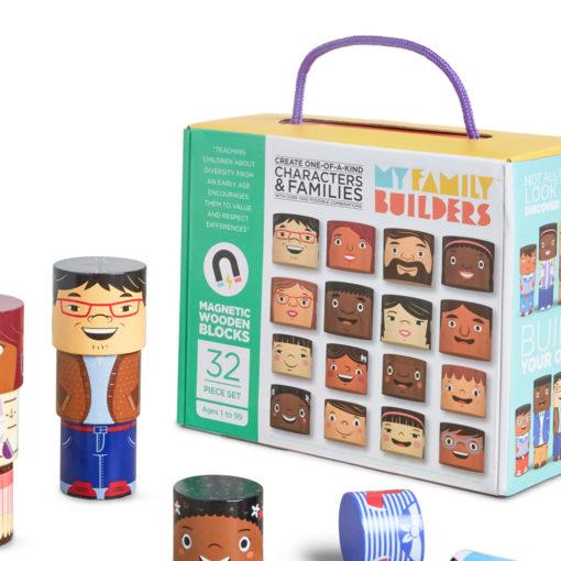 Karton My Family Builders 32 Teile und einzelne Klötze