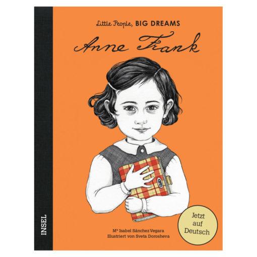 Cover: Graphik von Anne Frank, die ein kariertes Tagebuch in Händen hält