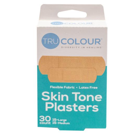 30 Pflaster Hautfarben beige - kaum sichtbar auf heller Haut / für weiße Menschen