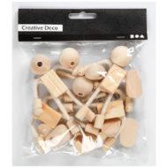 Beutel mit Puppenhausfiguren Rohlingen für 4 fertige Puppen