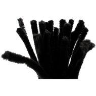 Bild von einem Bündel Schwarzem Biegeplüsch (Pfeifenreiniger) zum Basteln