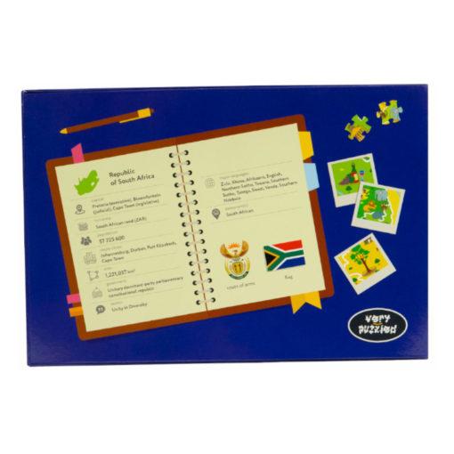 Südafrika puzzle south africa jigsaw box Rückseite