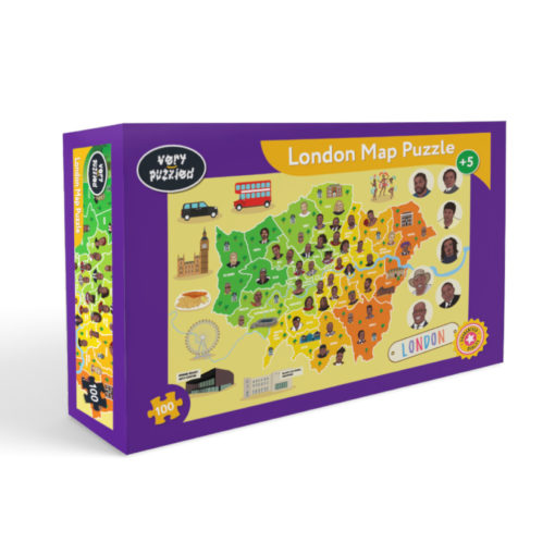 Box Puzzle London mit Schwarzen Menschen