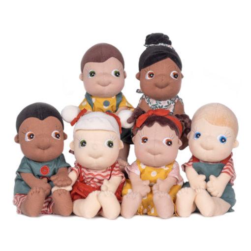 Alle Rubens Barn Tummies Puppen: Diversity Puppen (je eine männliche und weibliche Puppe: Schwarze Puppen, PoC Puppen, weiße Puppen)