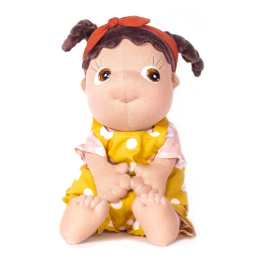 Rubens Barn Tummies Puppe Lumi: PoC Puppe mit gelbem Kleid
