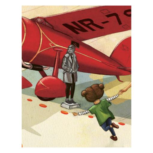 Willow Willpower: Kind rennt im Museum zu einem roten Flugzeug