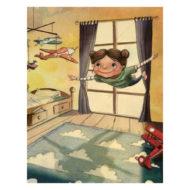 Innenseite Willow Willpower: Kind fliegt träumend durchs Zimmer