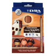 Lyra Skin Tones - dicke Hautfarbenstifte in 12 Hauttönen - Packung mit 3 abgebildeten Kindern