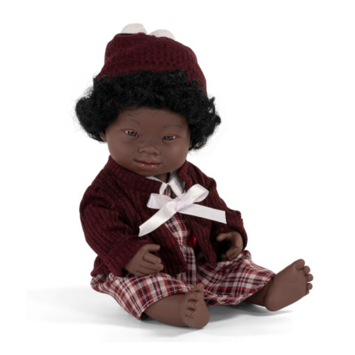 miniland Puppe Down - Syndrom, Schwarz, weiblich, bekleidet