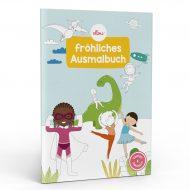 Fröhliches Ausmalbuch mit verschiedenen Kindern Ellou