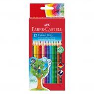 Faber Castell 12 Colour Grip wasservaermalbare Buntstifte