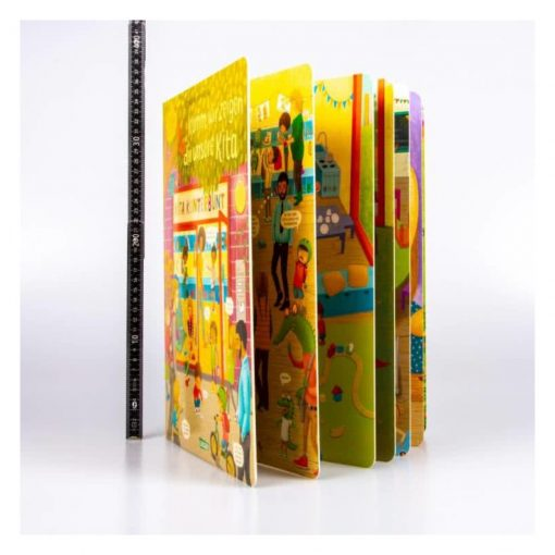 Aufgefächert aufgestelltes Buch: Komm, wir zeigen dir unsere Kita - Constanze von Kitzings Wimmelgeschichten 1