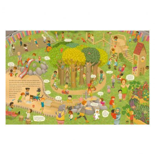 Innenseite Garten von Komm, wir zeigen dir unsere Kita - Constanze von Kitzings Wimmelgeschichten 1